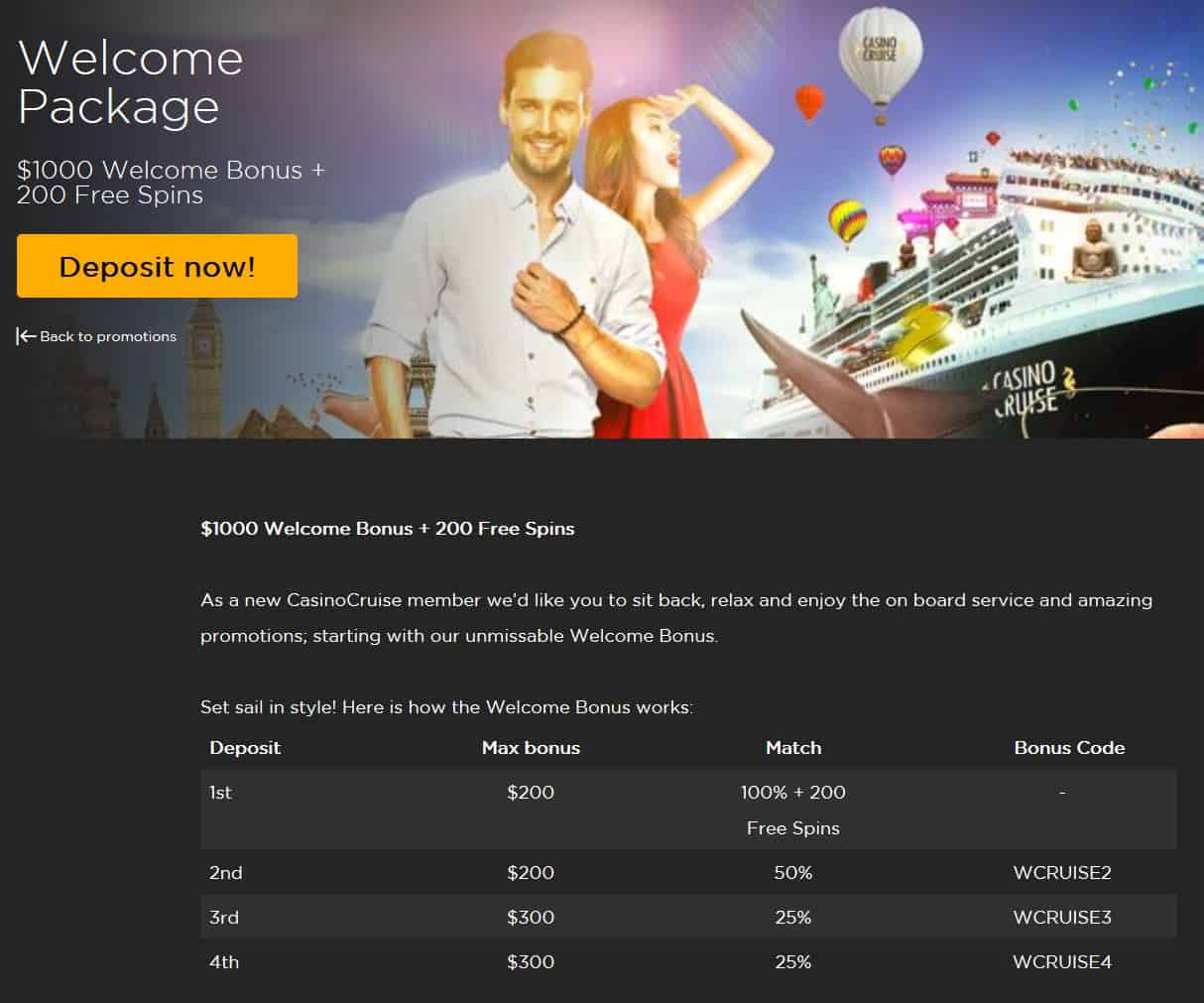 Casino Cruise Bonus Code NZ