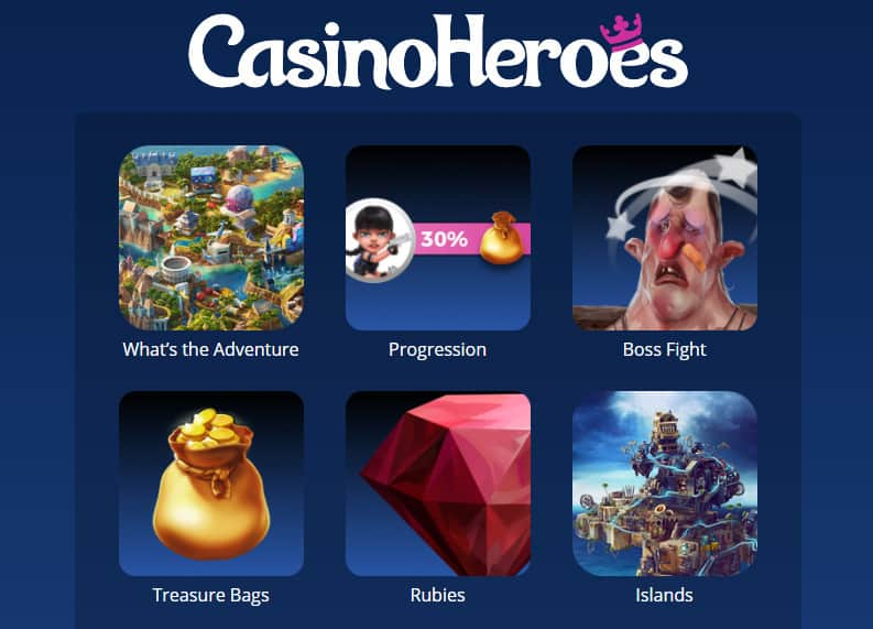 How Does the Casino Heroes Adventure Work?