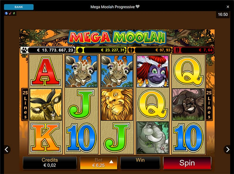 Become a millionaire with Mega Moolah at JackpotCity Casino