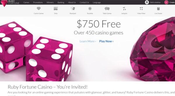Ruby Fortune Casino Login