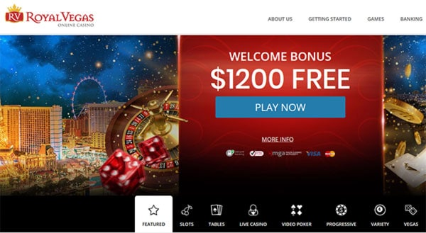RoyalVegas Casino Log in