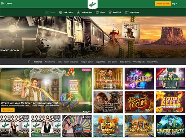 Mr Green Online Casino NZ