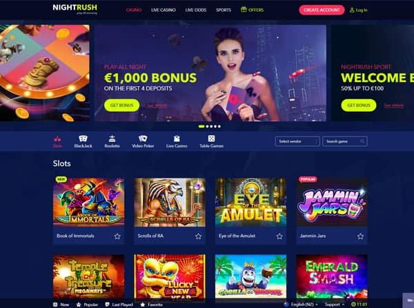 Nightrush Online Casino NZ