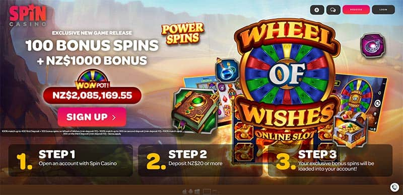 Spin Casino Wheel of Wishes
