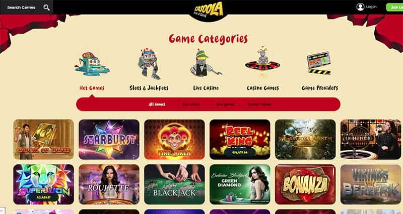 Casoola Casino Games