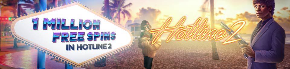Win a share of 1 Million Free Spins on Hotline 2 at Betzest