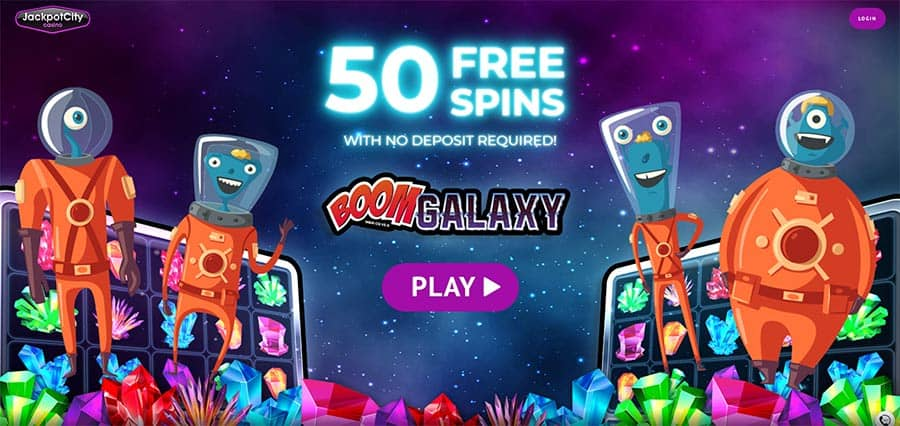 50 free spins on boom galaxy