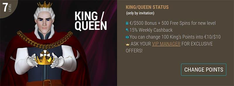 King Billy VIP program