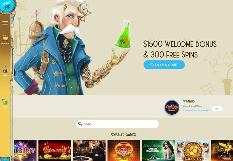 Casino Lab review NZ