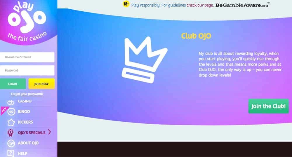 PlayOJO Club OJO VIP Program