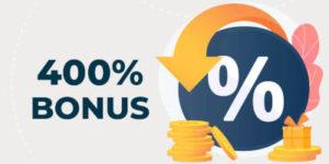 400% Deposit Casino Bonuses